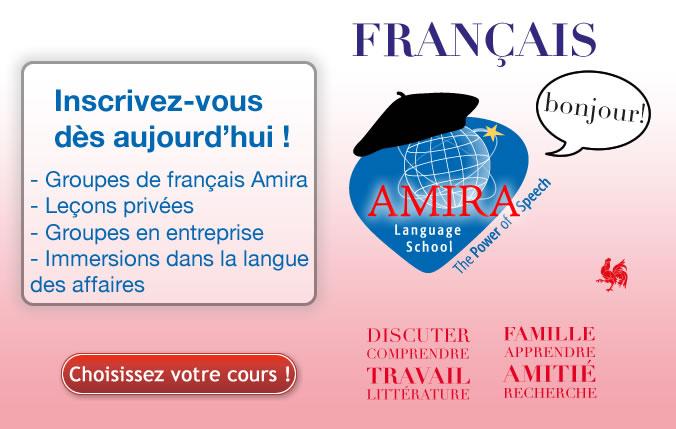 Cours de français à Bruxelles, chez Amira Language School